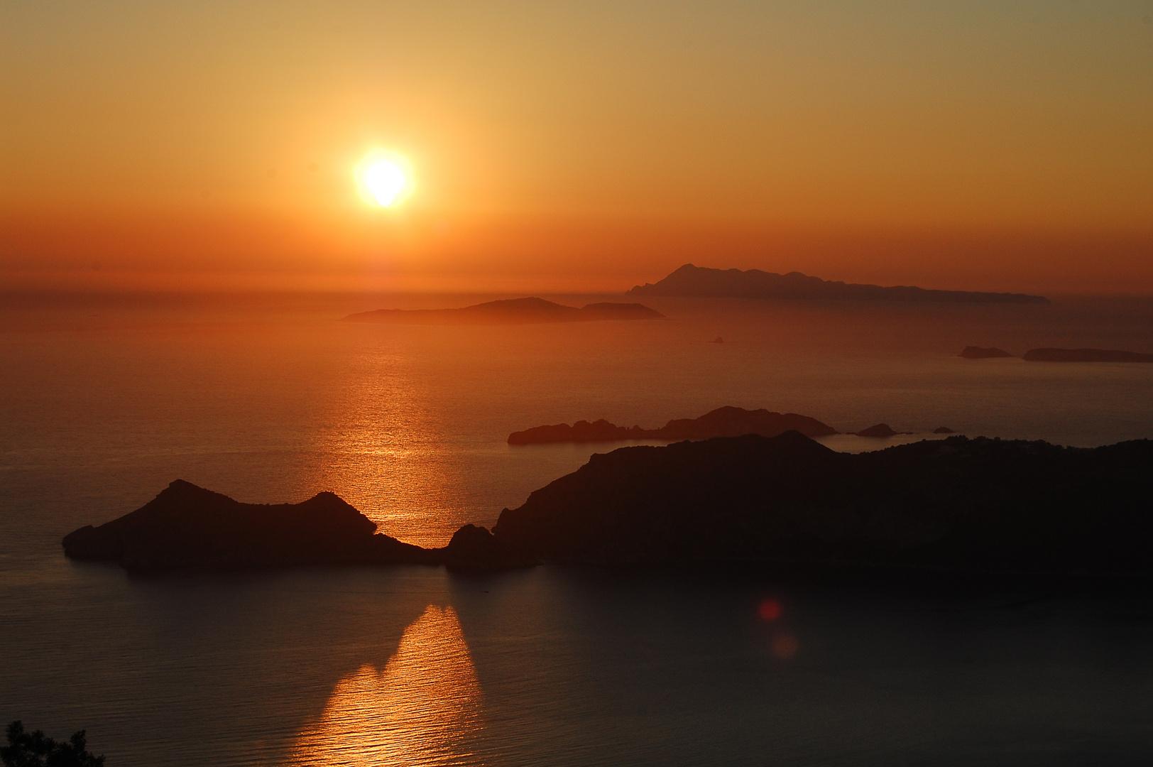 Sonnenuntergang auf Korfu