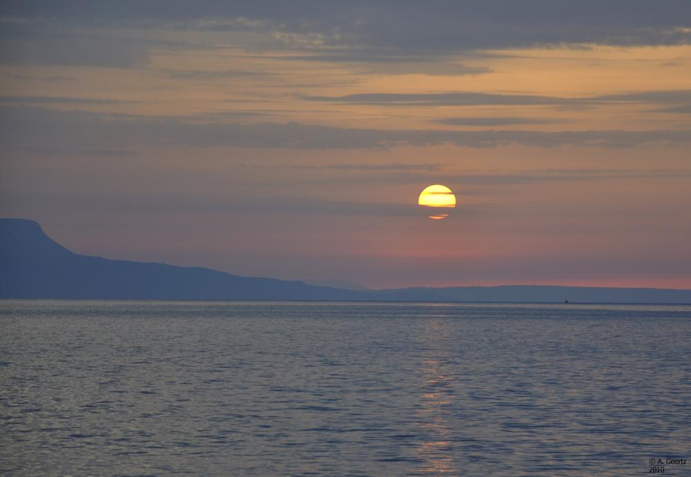 Sonnenuntergang auf Kreta 2010 zweiter Versuch