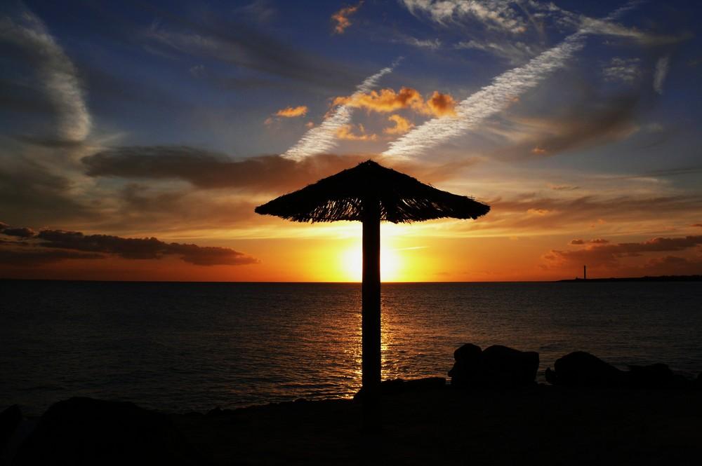 Sonnenuntergang auf Lanzarote (Playa Blanca) - 2