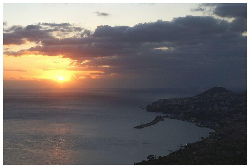 Sonnenuntergang auf Madeira...