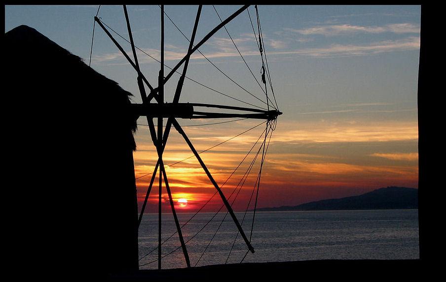 Sonnenuntergang auf Mykonos...