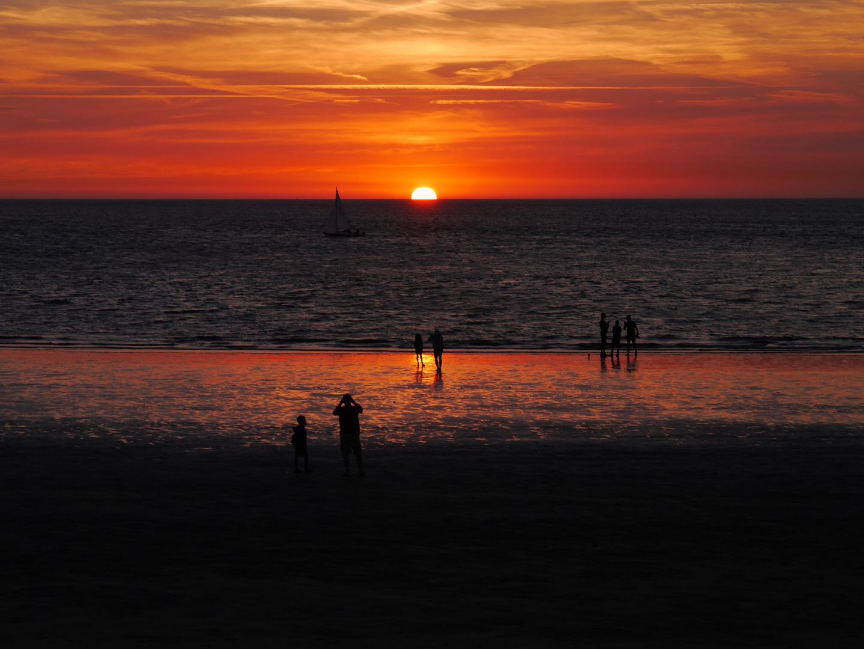 Sonnenuntergang auf Norderney
