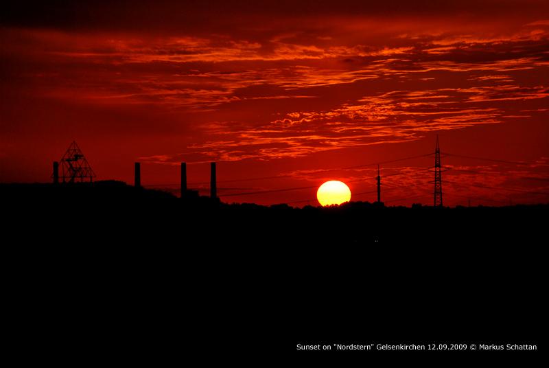 """Sonnenuntergang auf """"Nordstern"""""""