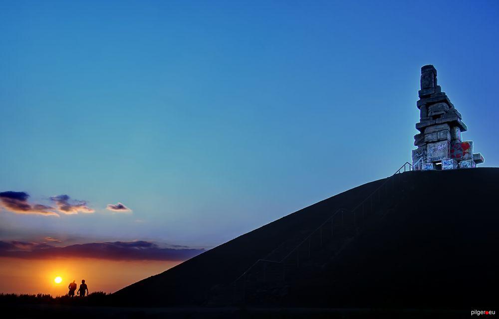 Sonnenuntergang auf Rheinelbe