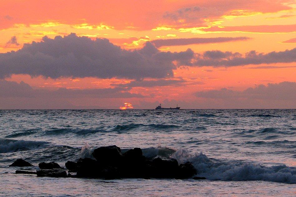 Sonnenuntergang auf Rhodos