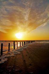 Sonnenuntergang auf Rømø _-`O´-_