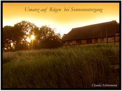Sonnenuntergang auf Rügen, Umanz
