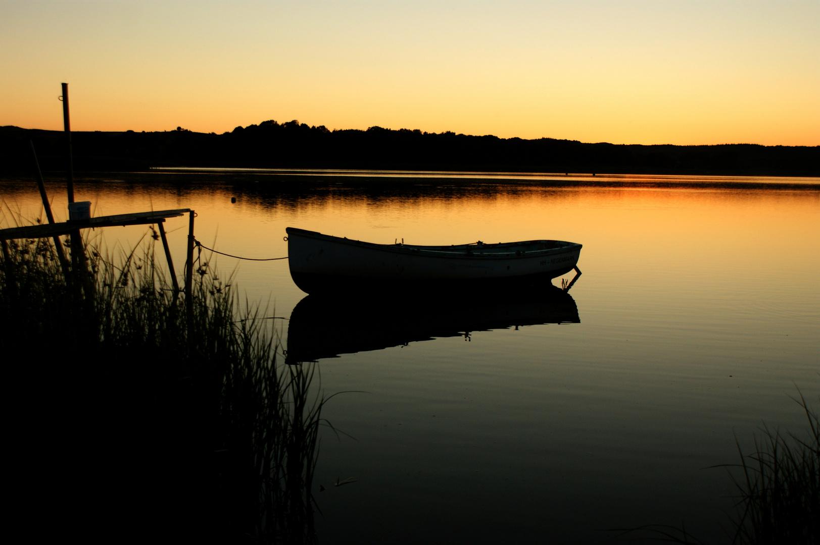 Sonnenuntergang auf Rügen/Selliner See