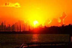 Sonnenuntergang auf Sizillien Marina di Ragusa