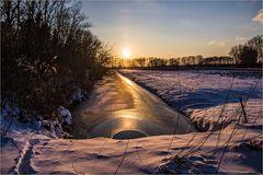 Sonnenuntergang auf Usedom Februar 2018