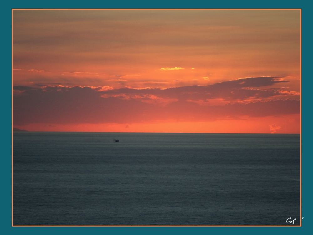 Sonnenuntergang auf Vulcano