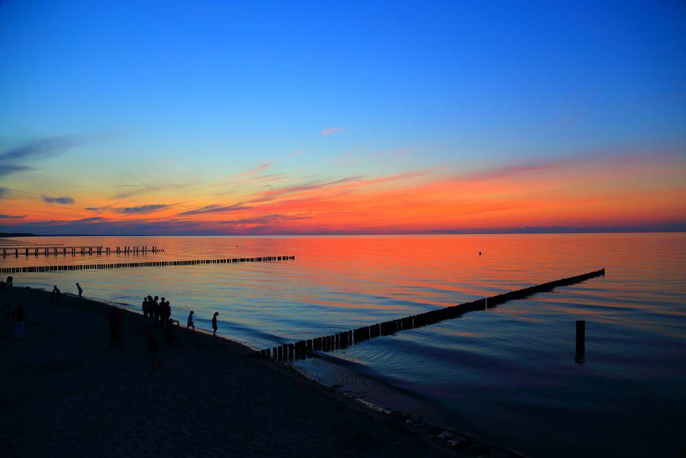 Sonnenuntergang auf Zingst