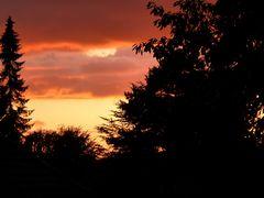 Sonnenuntergang aus dem Küchenfenster.