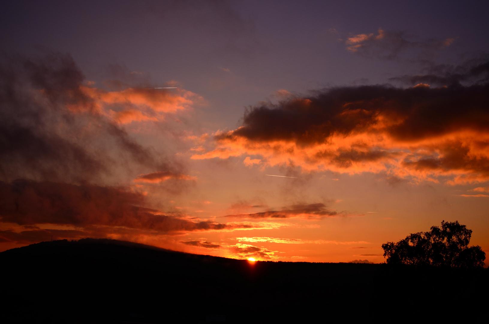 Sonnenuntergang Bad Kissingen 2