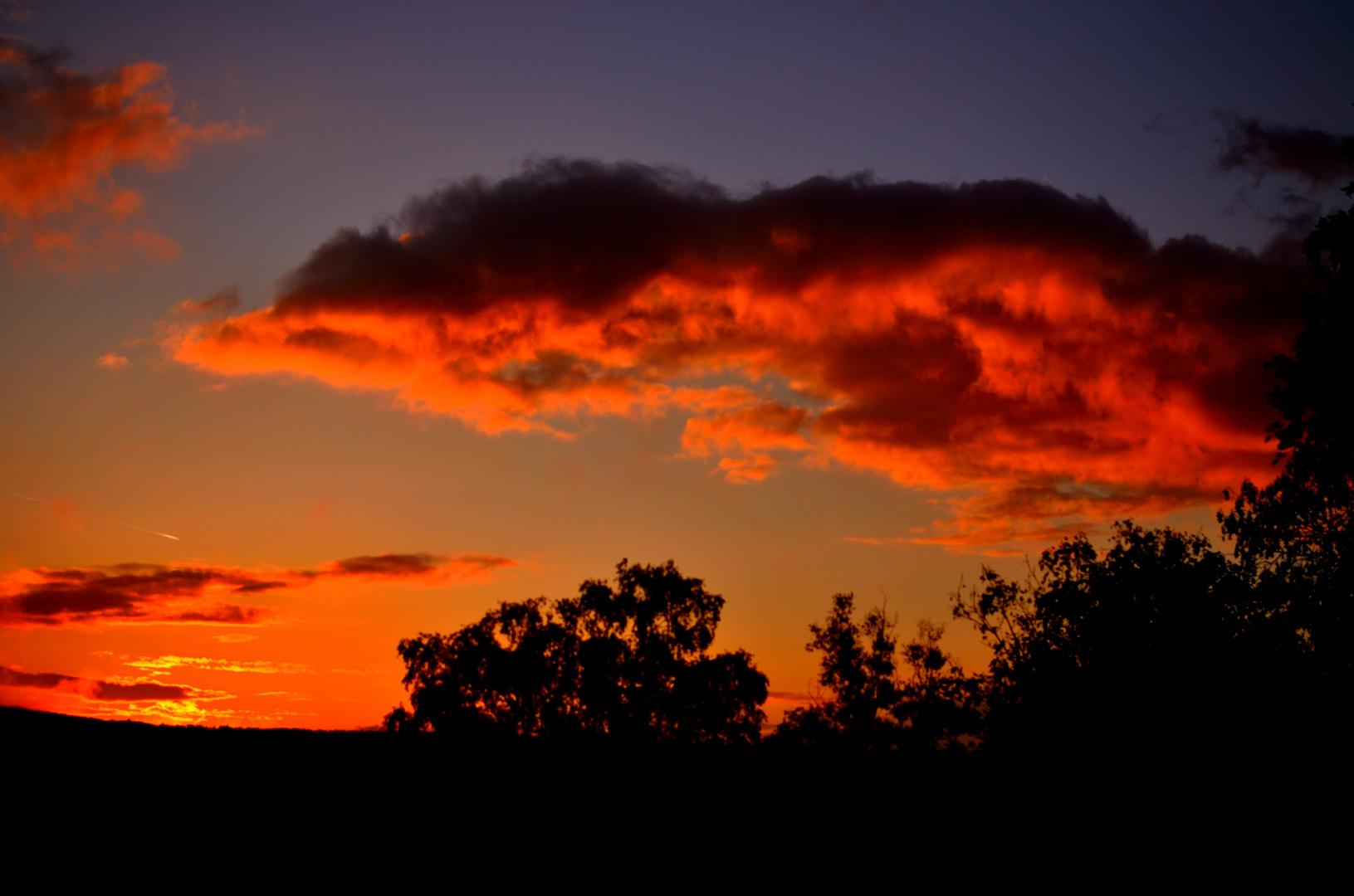 Sonnenuntergang Bad Kissingen 3