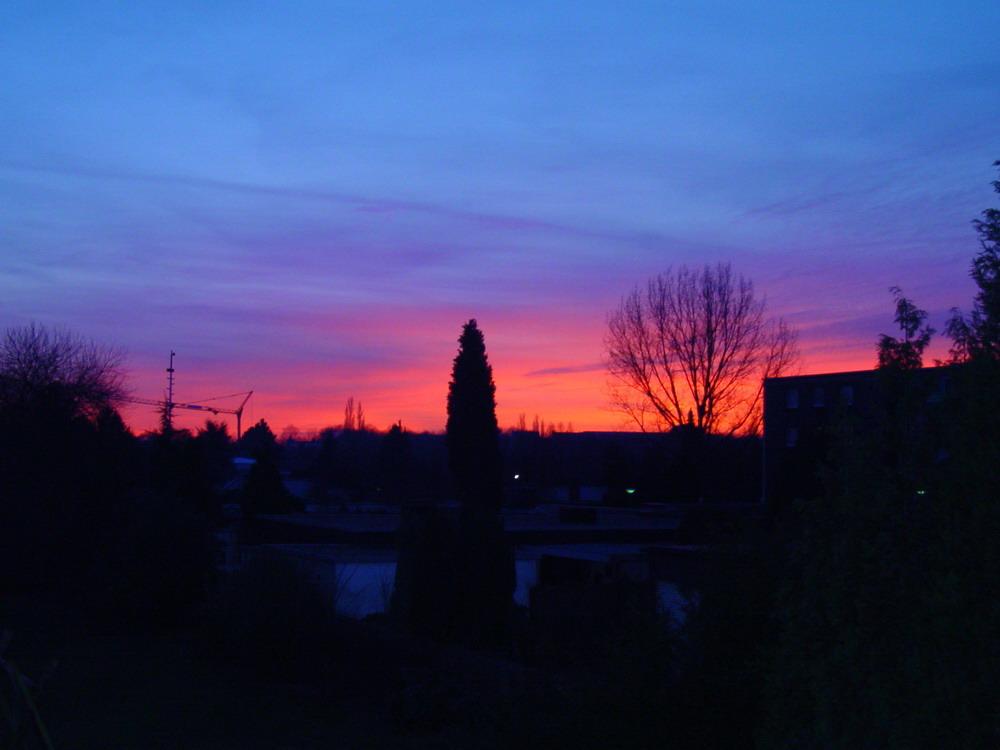 Sonnenuntergang Balkon
