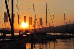 Sonnenuntergang Bardolino Gardasee 2