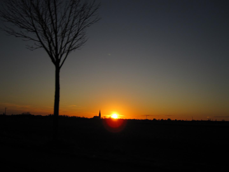 Sonnenuntergang bei Anrath
