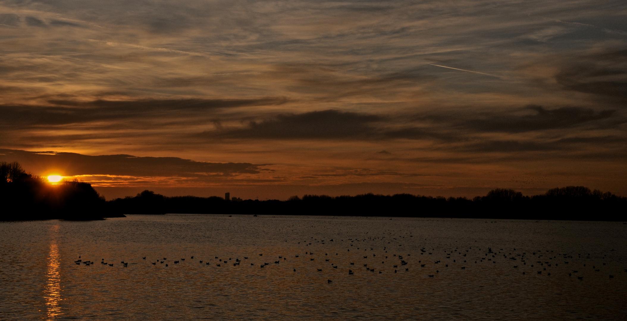 Sonnenuntergang bei Auloh/Landshut