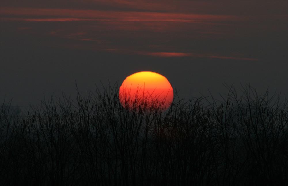 Sonnenuntergang bei Bad Nenndorf
