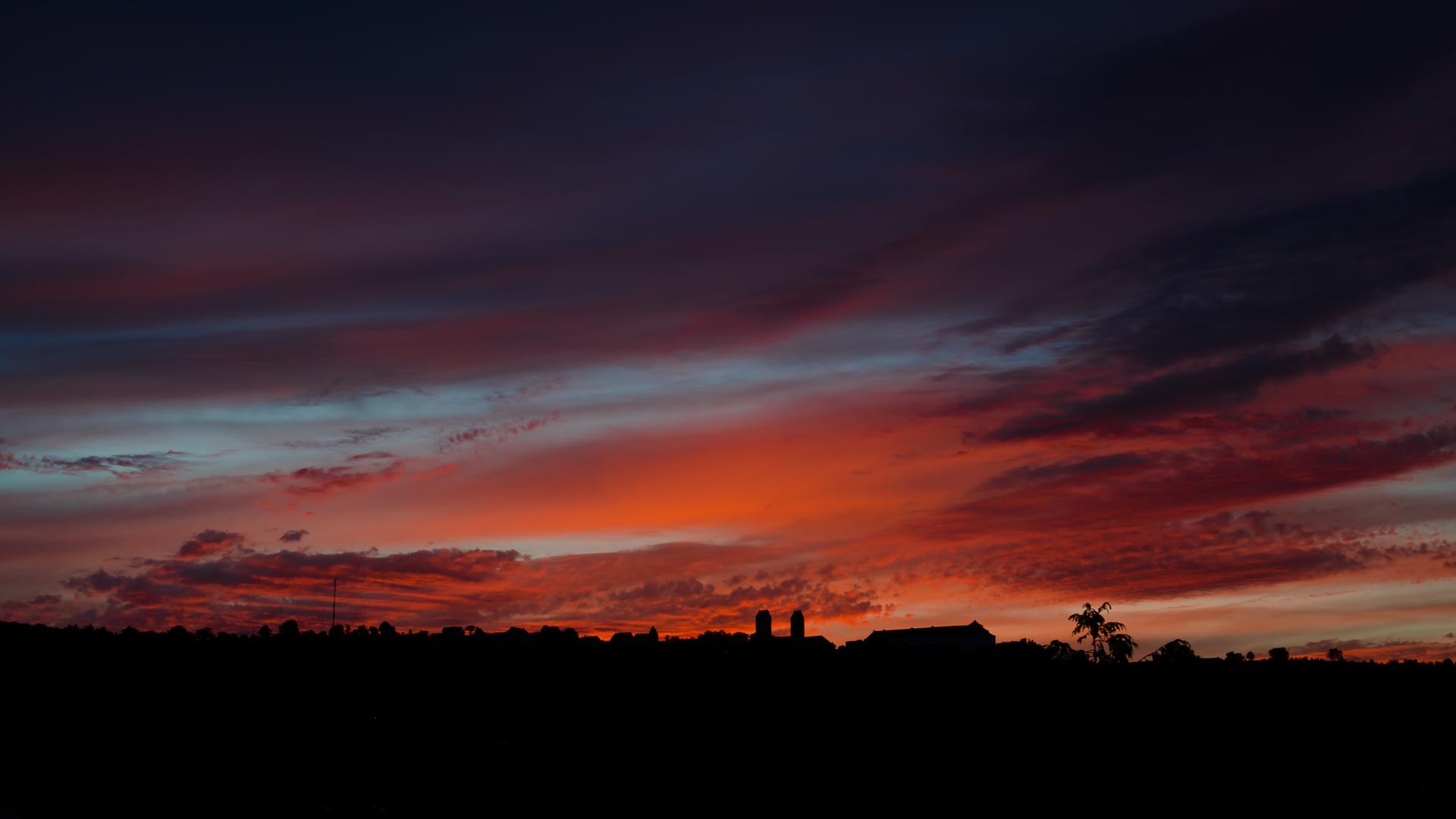Sonnenuntergang bei Beilngries