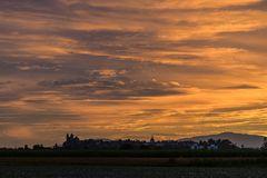 Sonnenuntergang bei Breisach