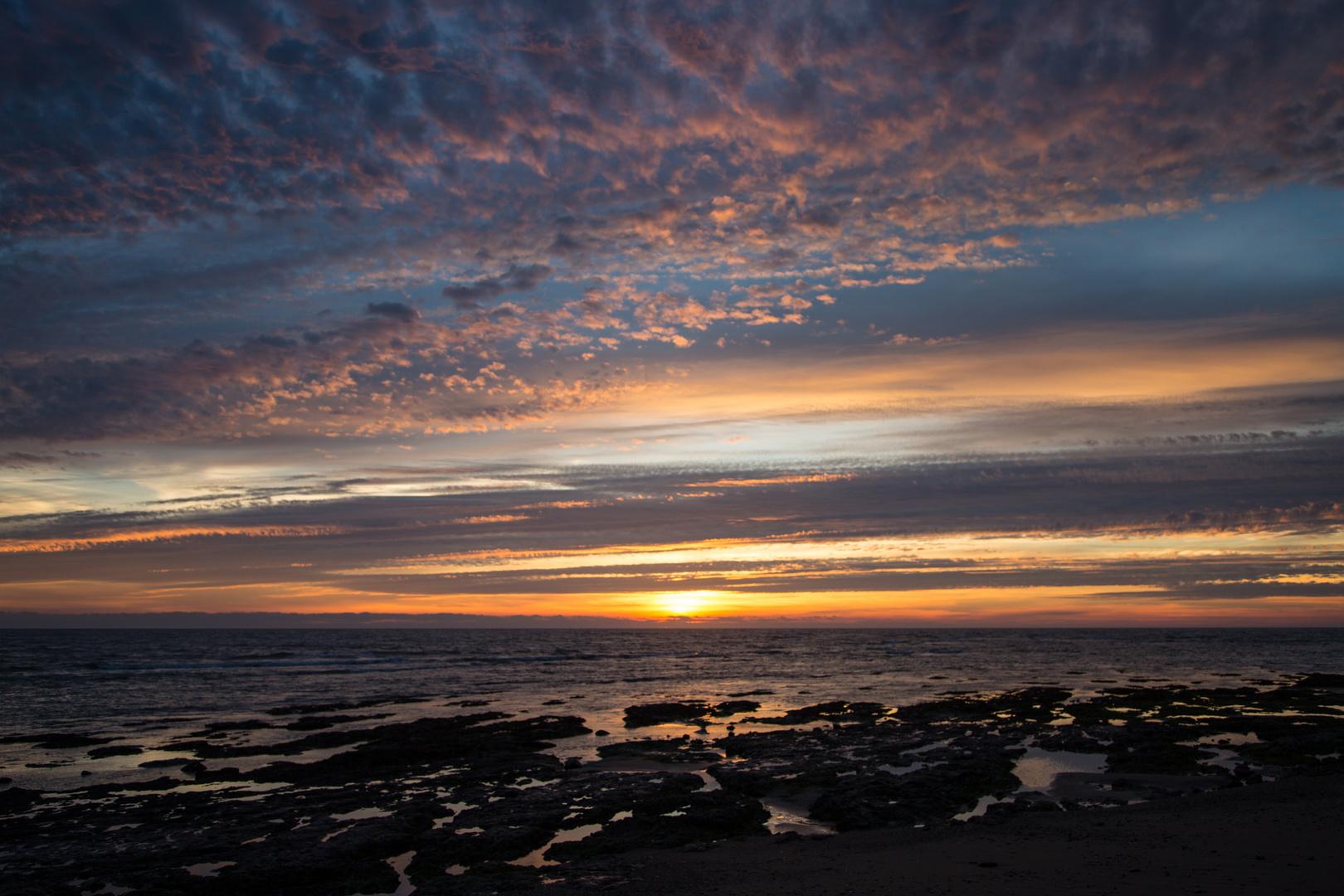 Sonnenuntergang bei Bretignolles-sur-Mer