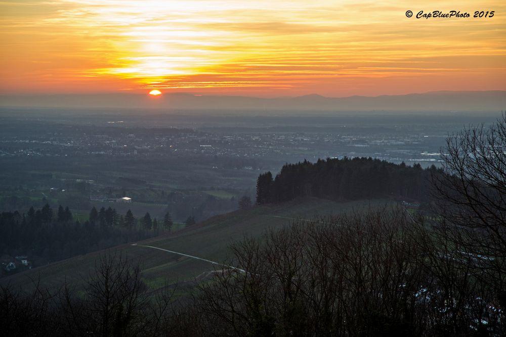 Sonnenuntergang bei Burg Windeck Ortenau (Bühl Baden)