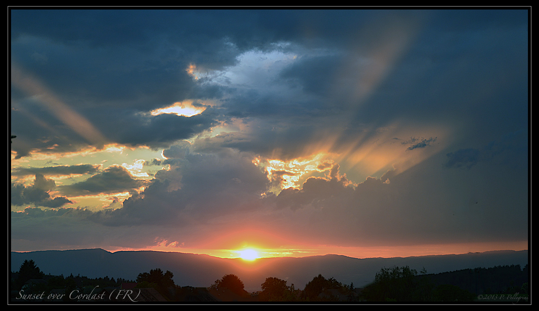 Sonnenuntergang bei Cordast