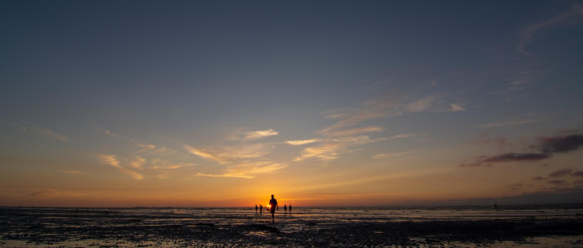 Sonnenuntergang bei Cuxhaven Duhnen