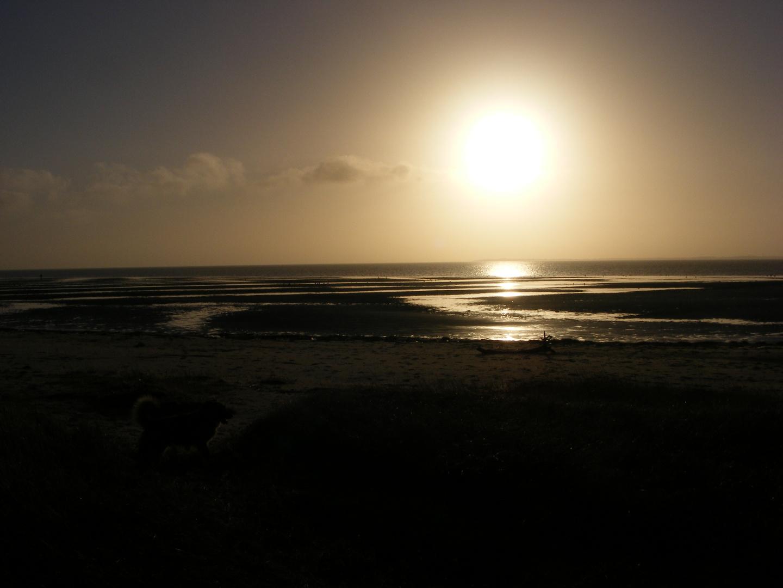 Sonnenuntergang bei Ebbe auf Föhr