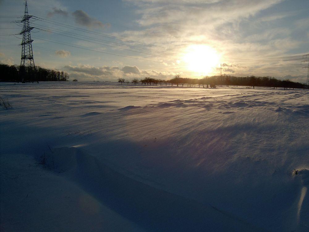 Sonnenuntergang bei Eberdingen