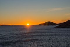 Sonnenuntergang bei Harstad