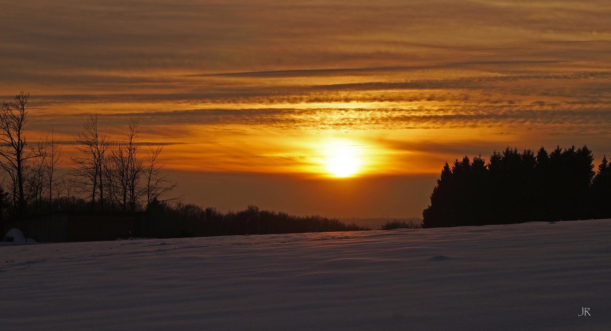 Sonnenuntergang bei Herrischried