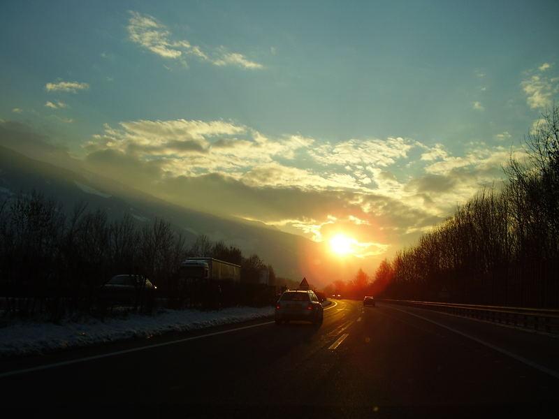 Sonnenuntergang bei Innsbruck