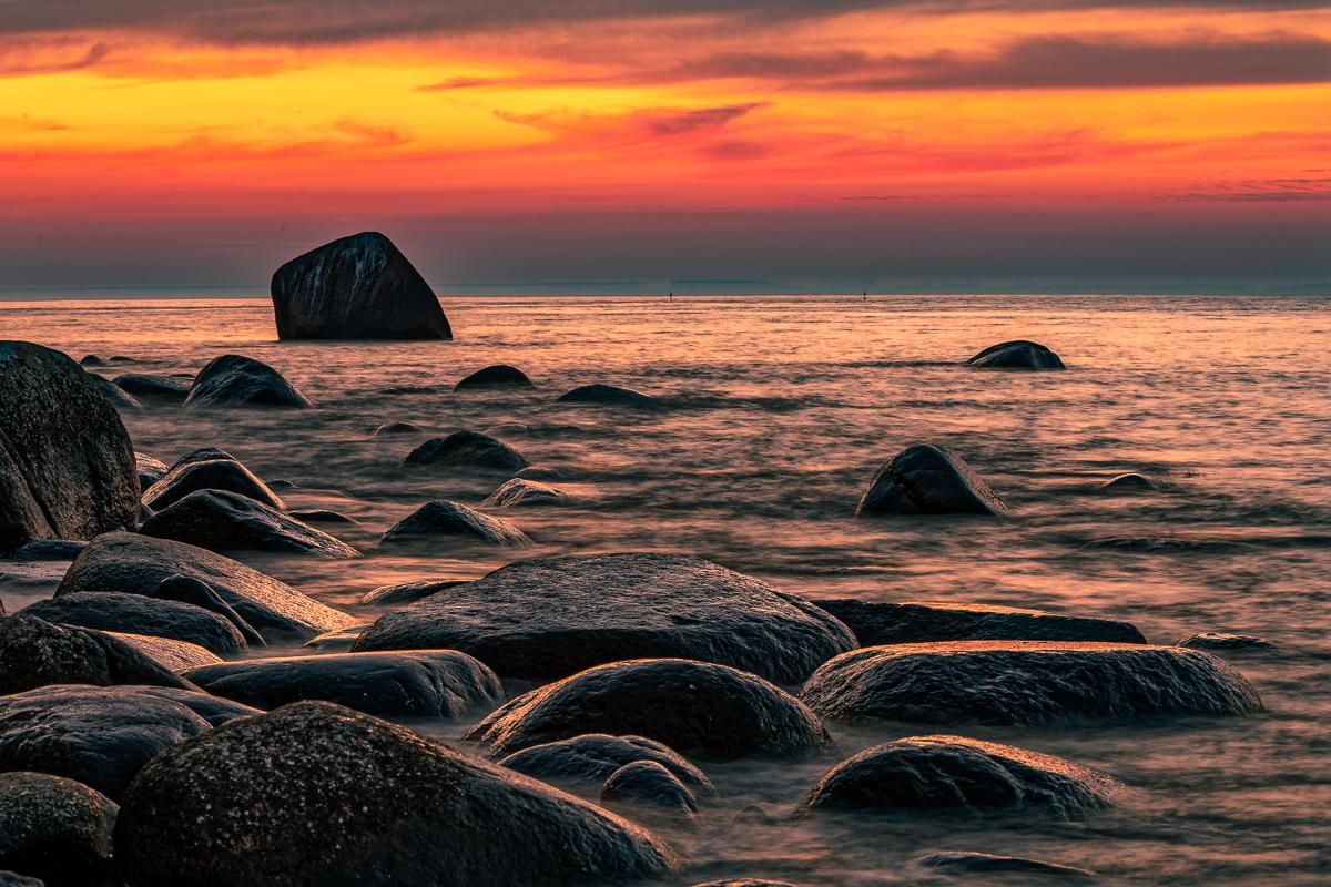 Sonnenuntergang bei Lohme auf Rügen