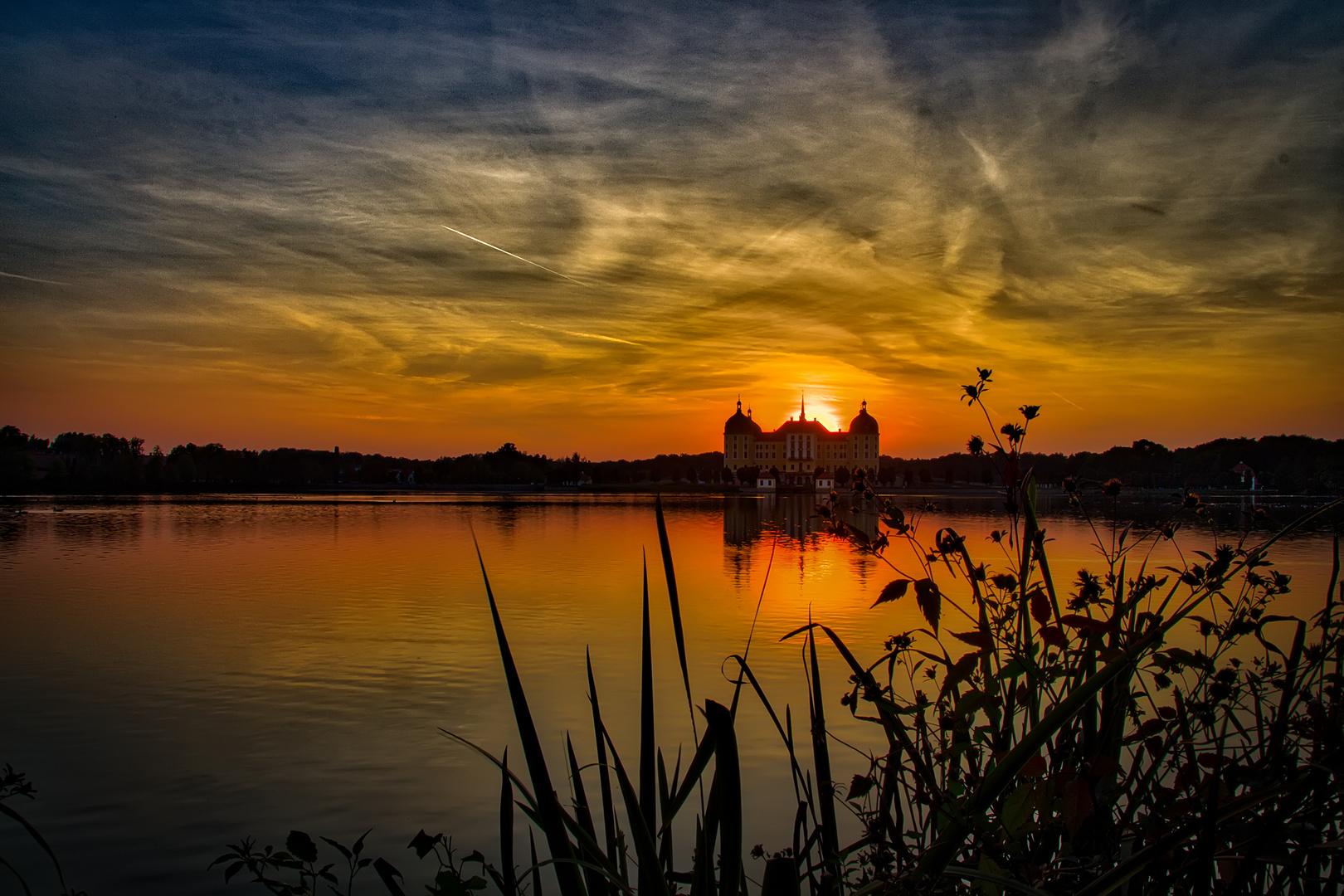 Sonnenuntergang bei Moritzburg