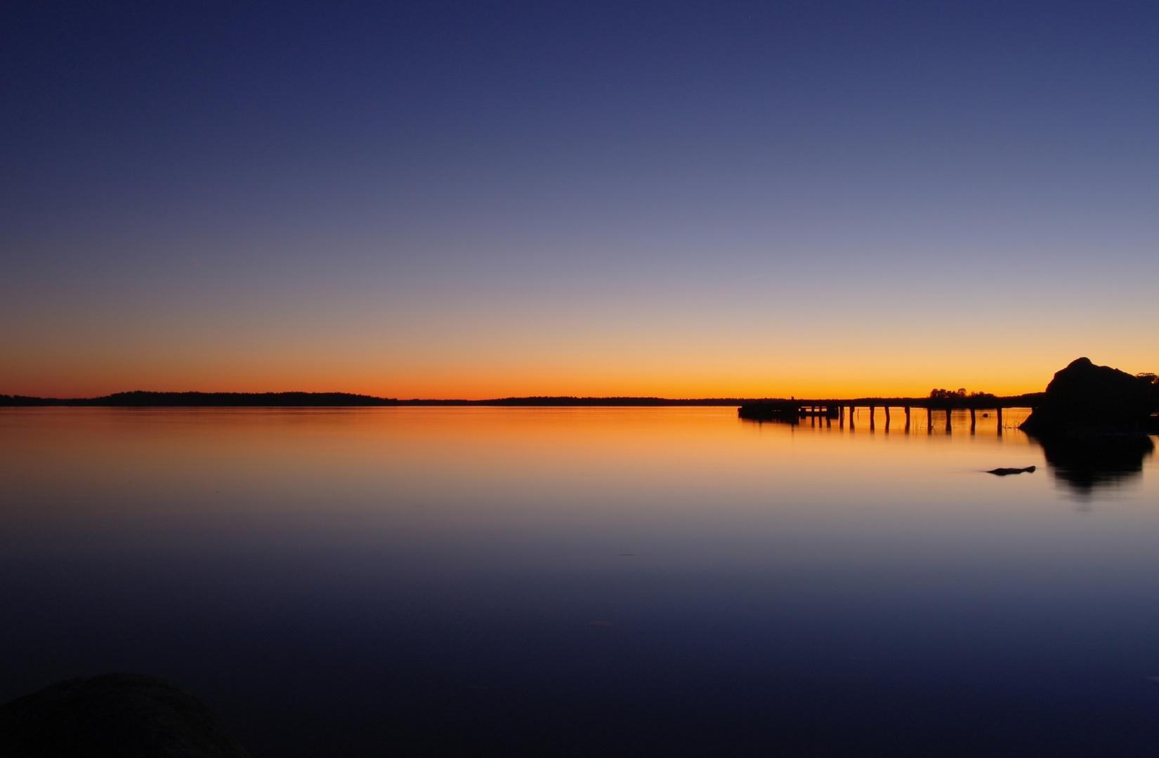 Sonnenuntergang bei Östersjön