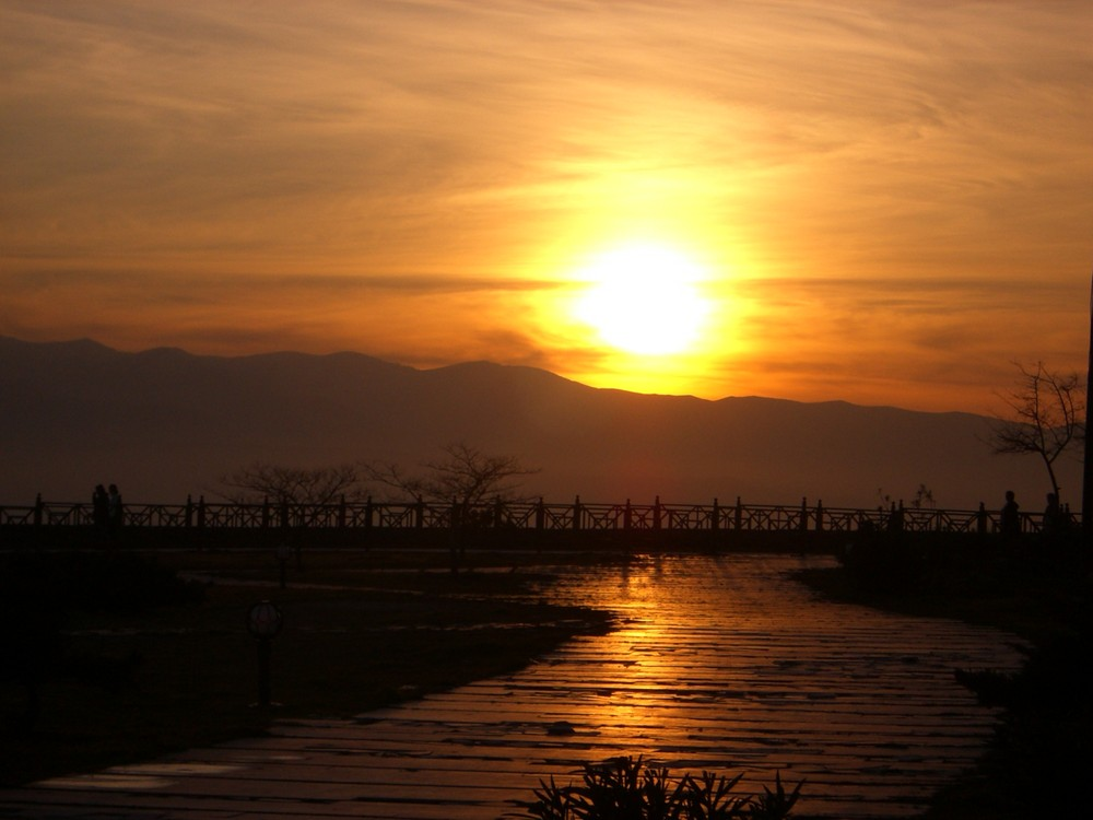 Sonnenuntergang bei Pamukale