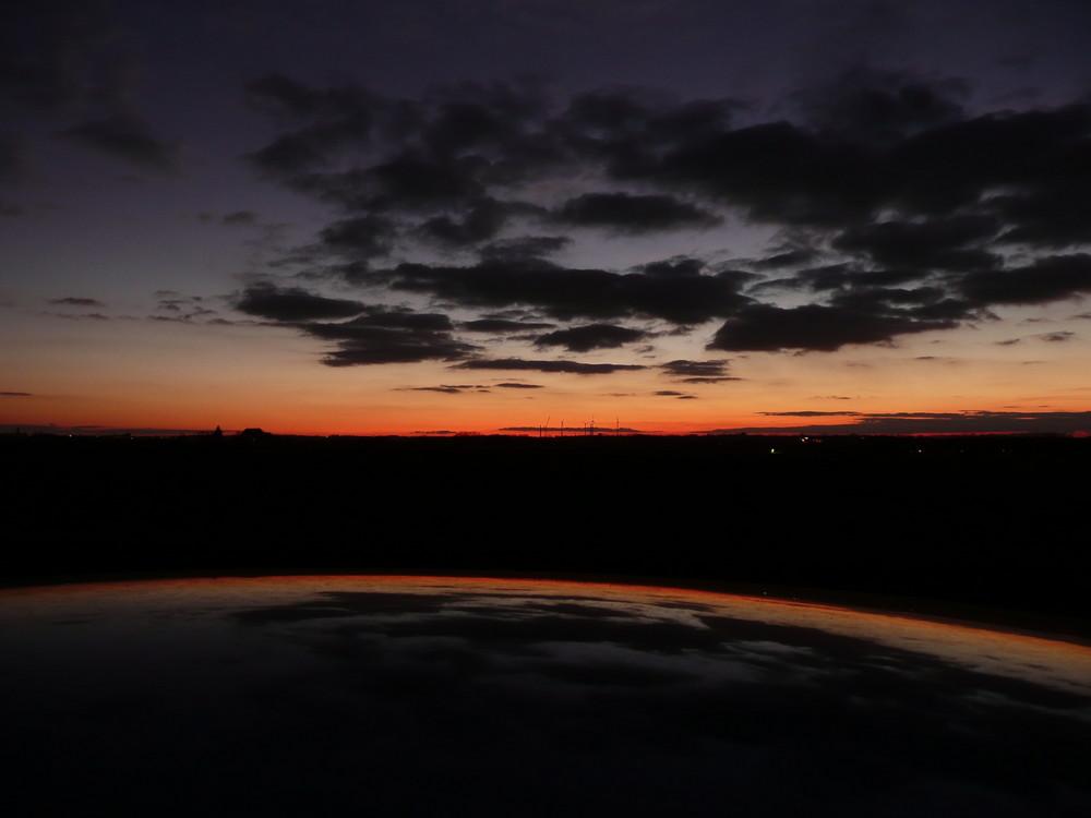 Sonnenuntergang bei Riesa