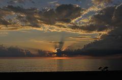 Sonnenuntergang bei Scalea, Kalabrien