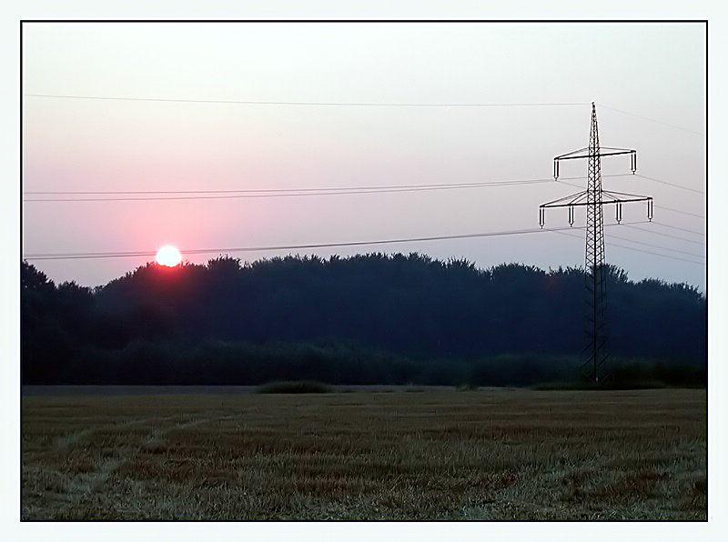 """Sonnenuntergang bei """"Schacht V"""""""