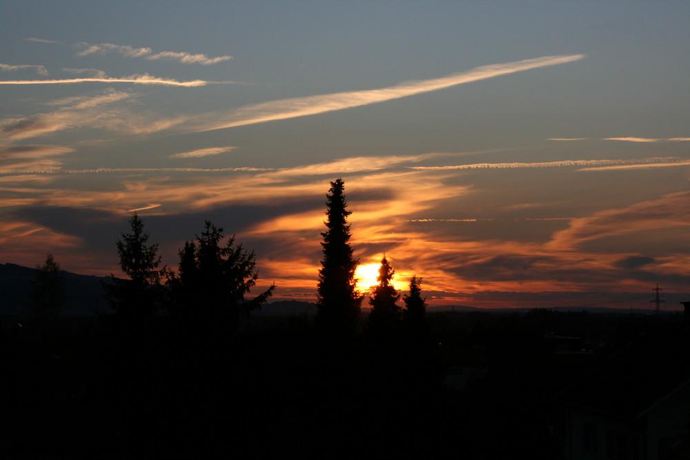 Sonnenuntergang bei Schwarzach