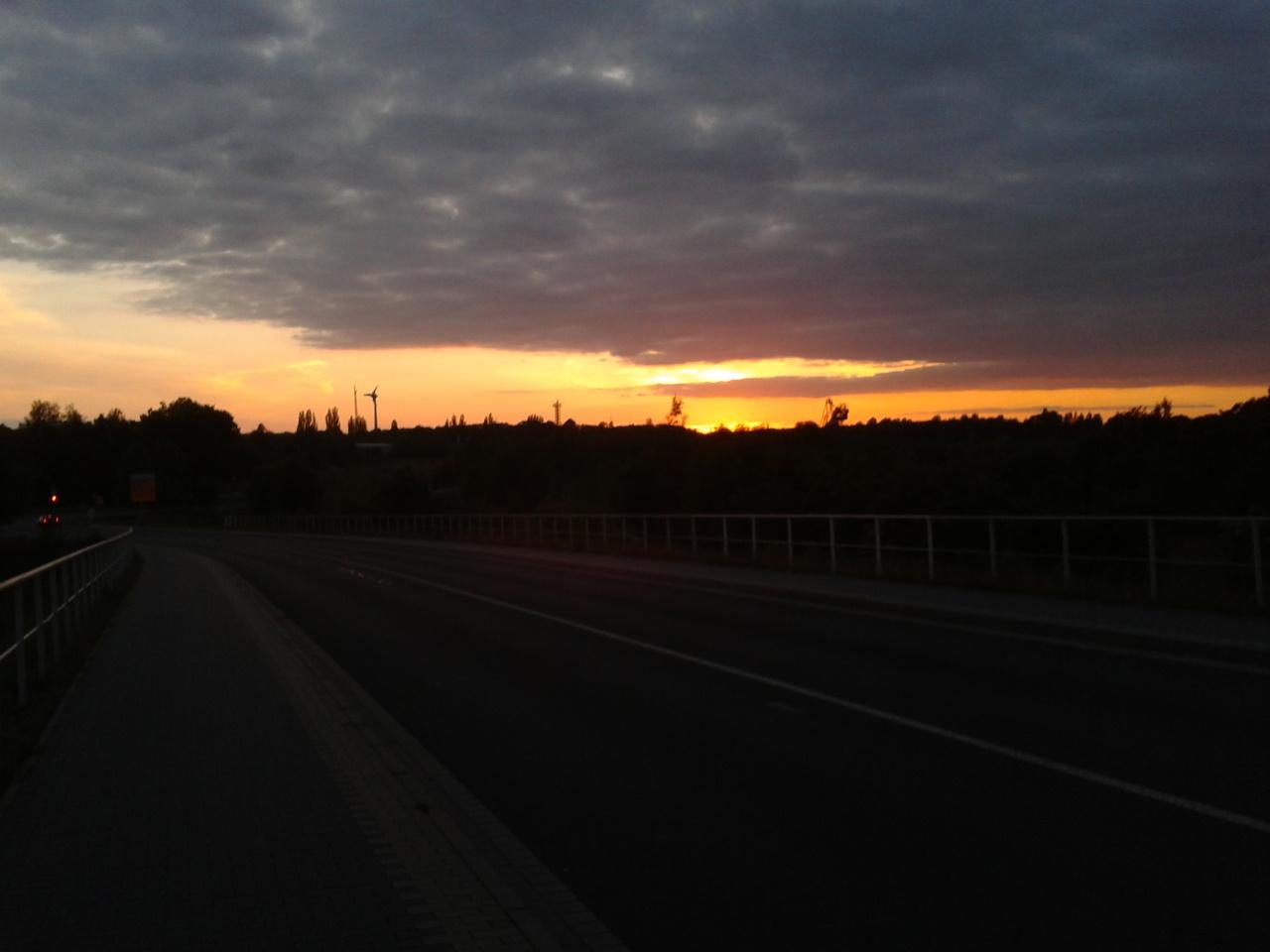 Sonnenuntergang bei Senftenberg mit Blick auf Hörlitz
