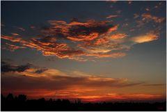 Sonnenuntergang bei Spreewiese