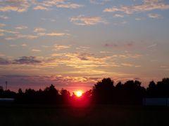 Sonnenuntergang bei Straelen / Niederrhein