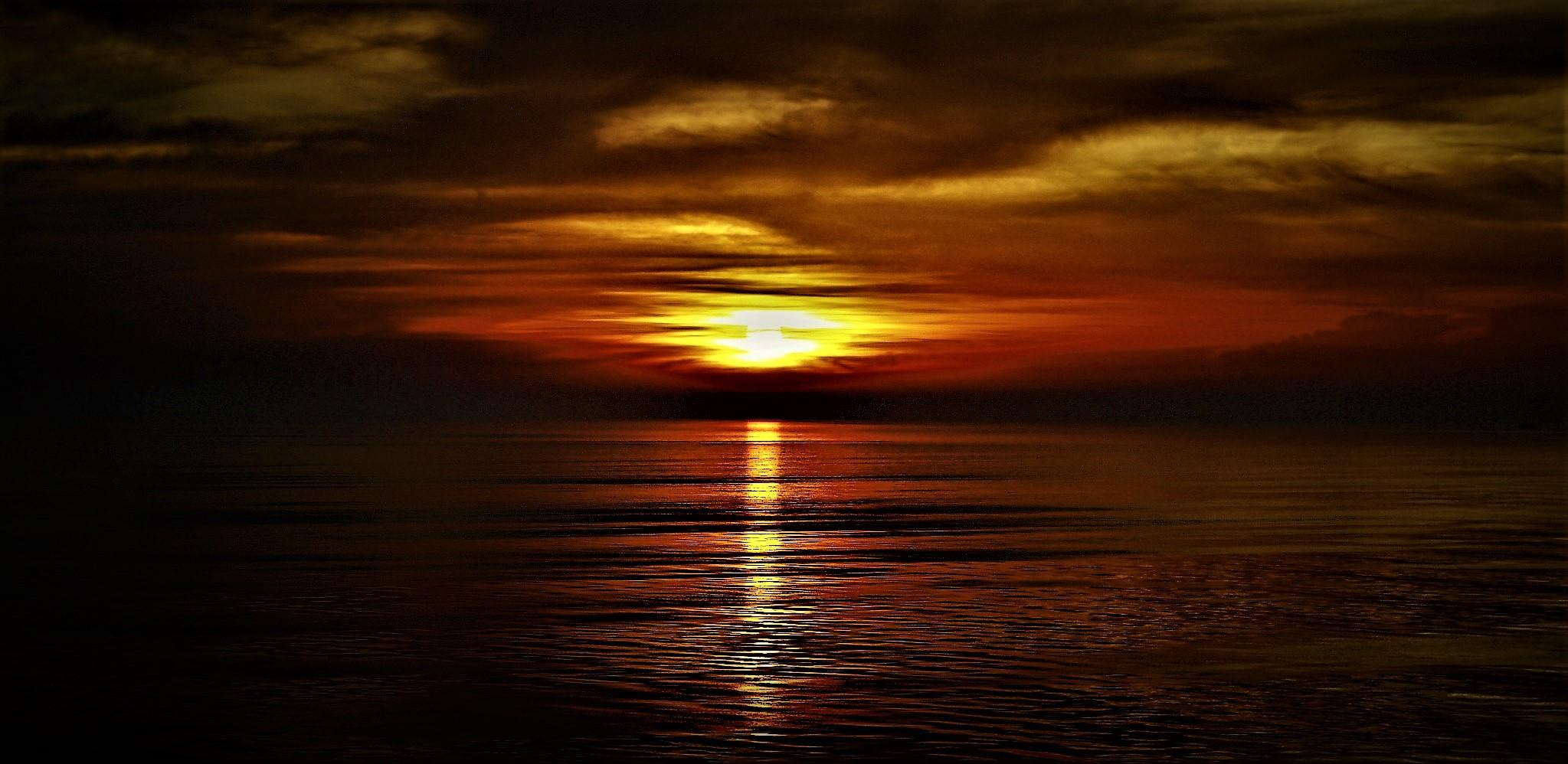 Sonnenuntergang bei Venedig