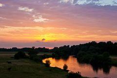 Sonnenuntergang bei Verden (Aller)