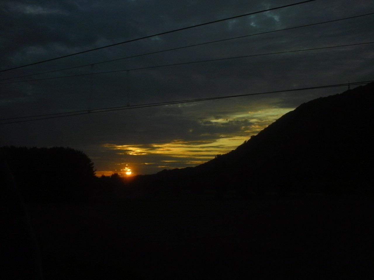 Sonnenuntergang beim Porta Westfalica