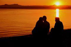 Sonnenuntergang bestaunen...